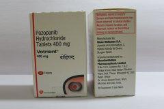 药物名称/商品名:帕唑帕尼(PAZOPANIB)/VOTRIENT